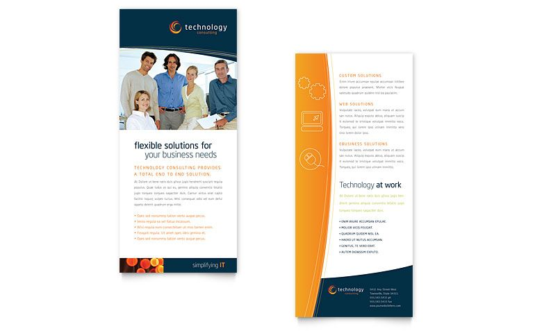 Free Rack Card Template Word Publisher Brochures Pinterest