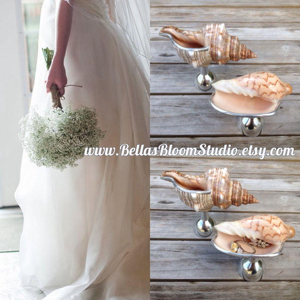 Seashell Ring holder Sea Shell ring box Beach Wedding Decor Sea
