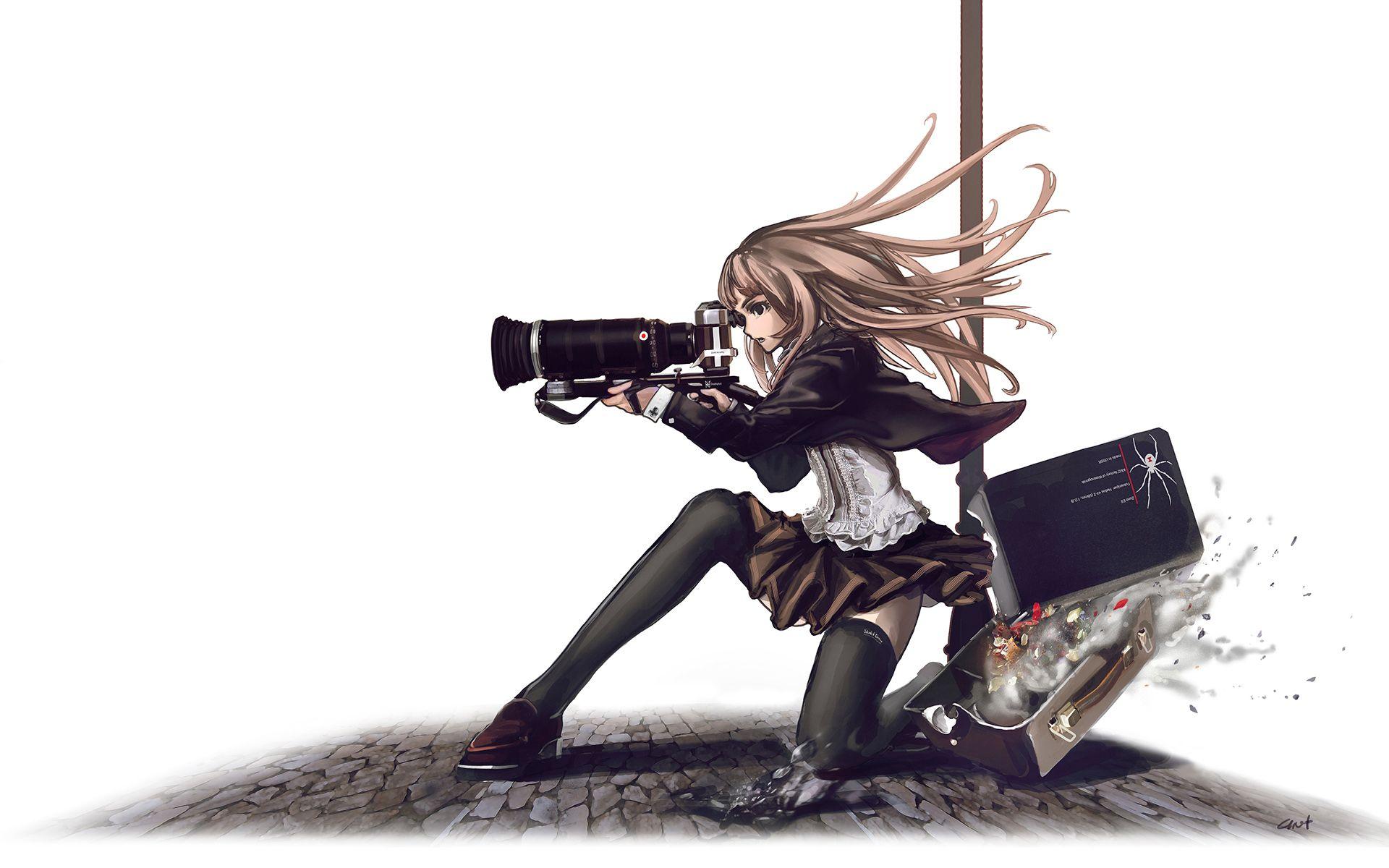 Anime Wallpaper Gunslinger Girl Weapon Camera Photographie Vol