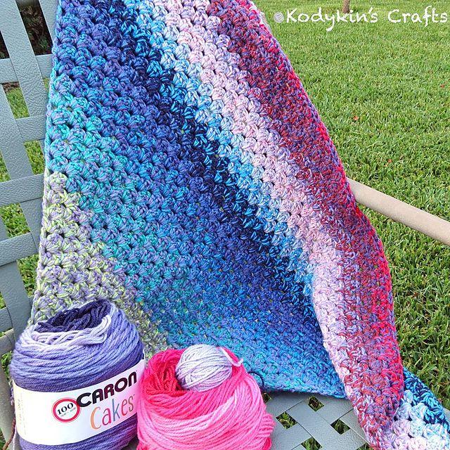 Diagonal Granny Blanket Free Crochet Pattern | DailyCrochetIdeas ...