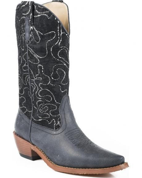 76c0b6cf0bc Roper Women's Crystal Lace Shaft Boots - Snip Toe | Cowgirl Boots ...