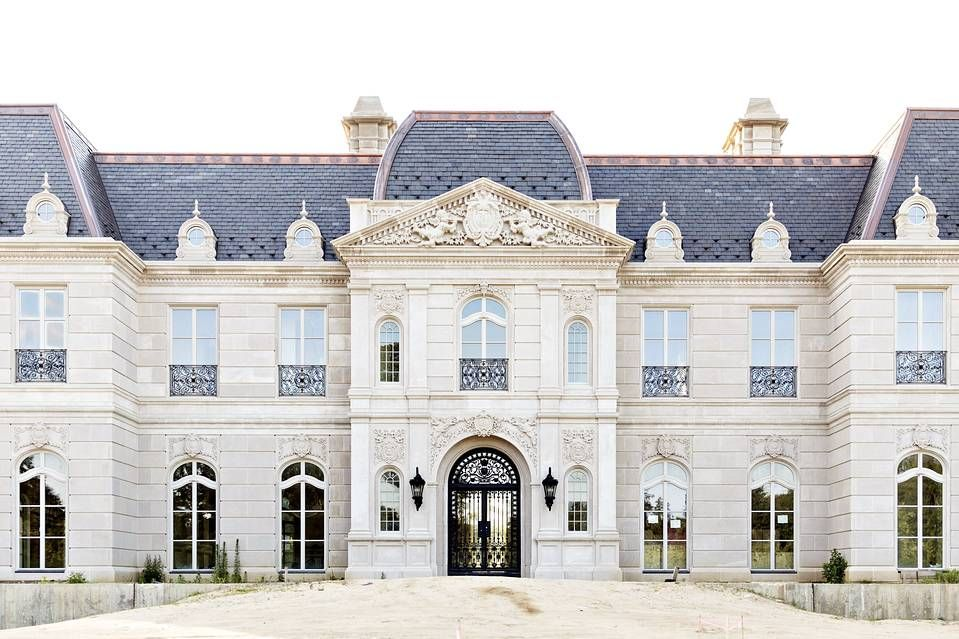 In Old Brookville, N.Y., this newly completed 17th century-style château was inspired by the Palace of Versailles.
