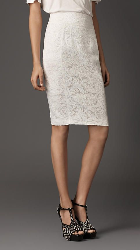 411a72cbf2 Burberry London Lace Pencil Skirt - YES! | Hippest wardrobe this ...