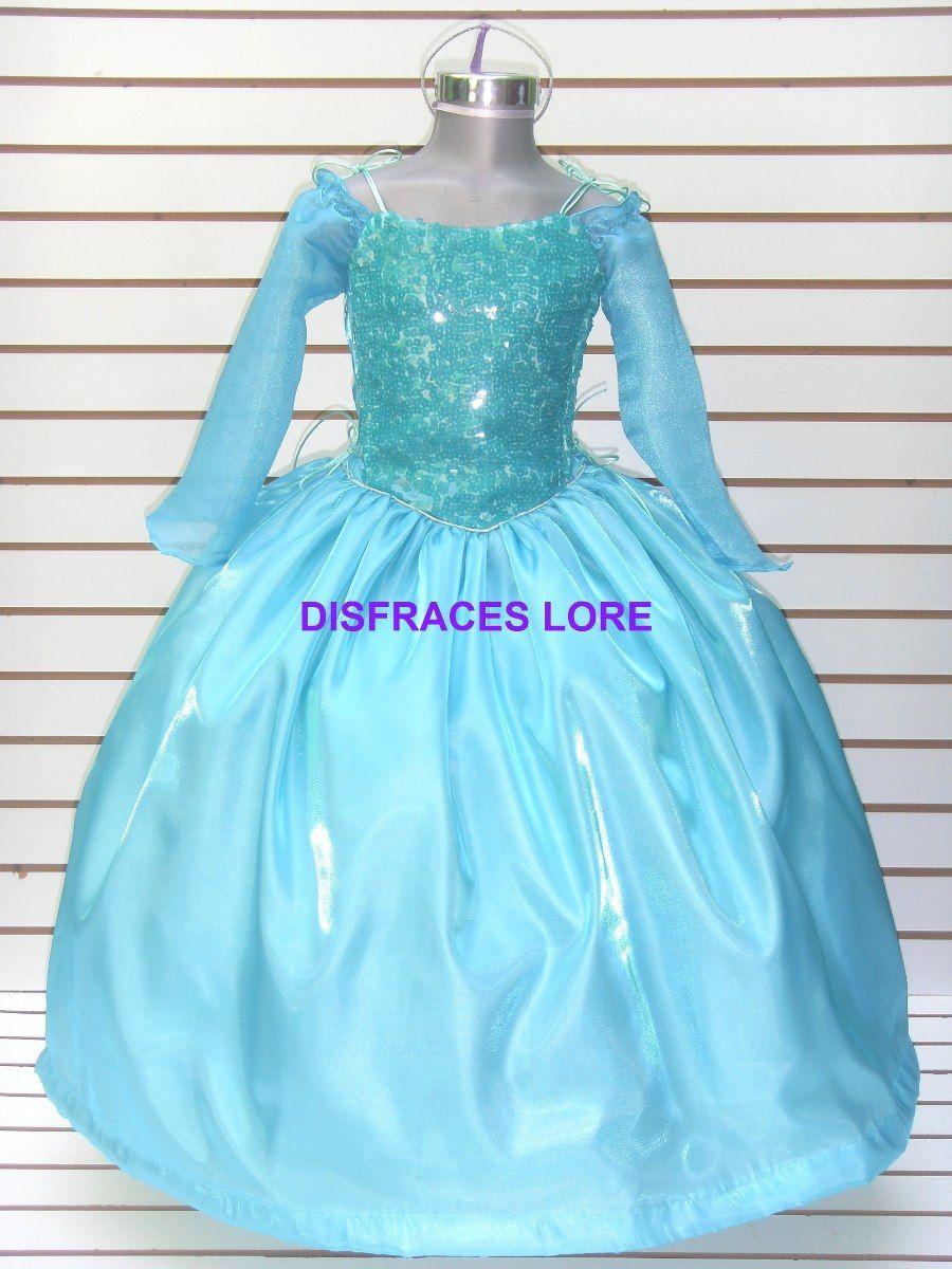 Disfraz Vestido Elsa Frozen Princesa Ana Bella Sofia Merida ...