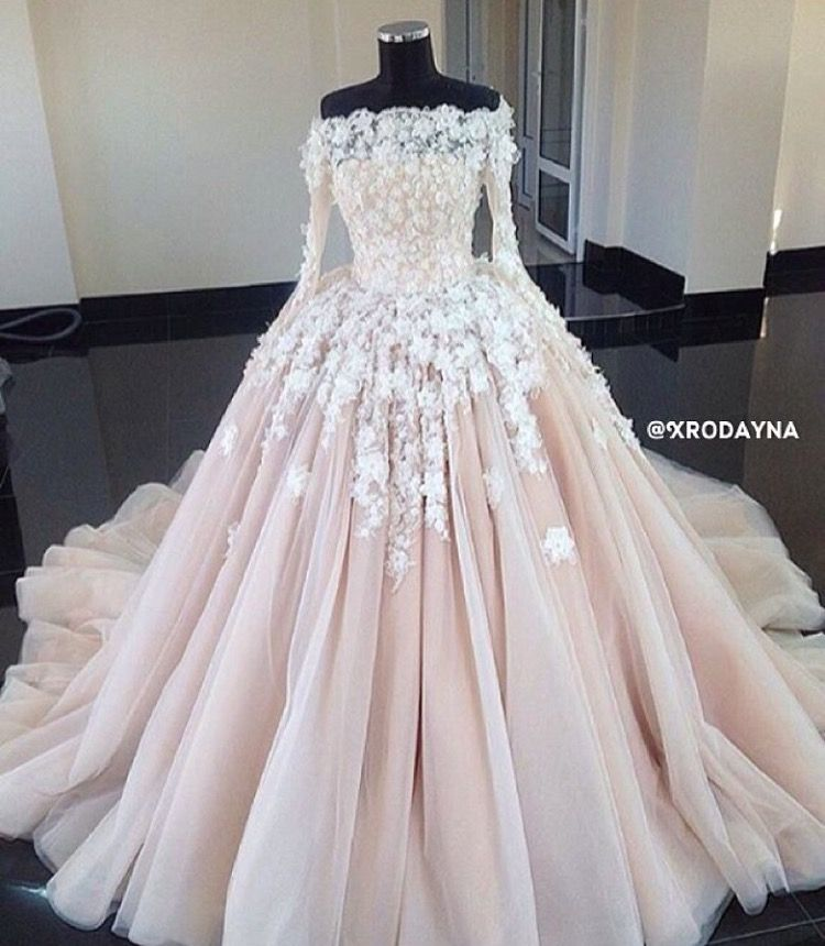 Pink Wedding Dresses Near Me: Gelinlik. ınstagram@zynpmodaevi