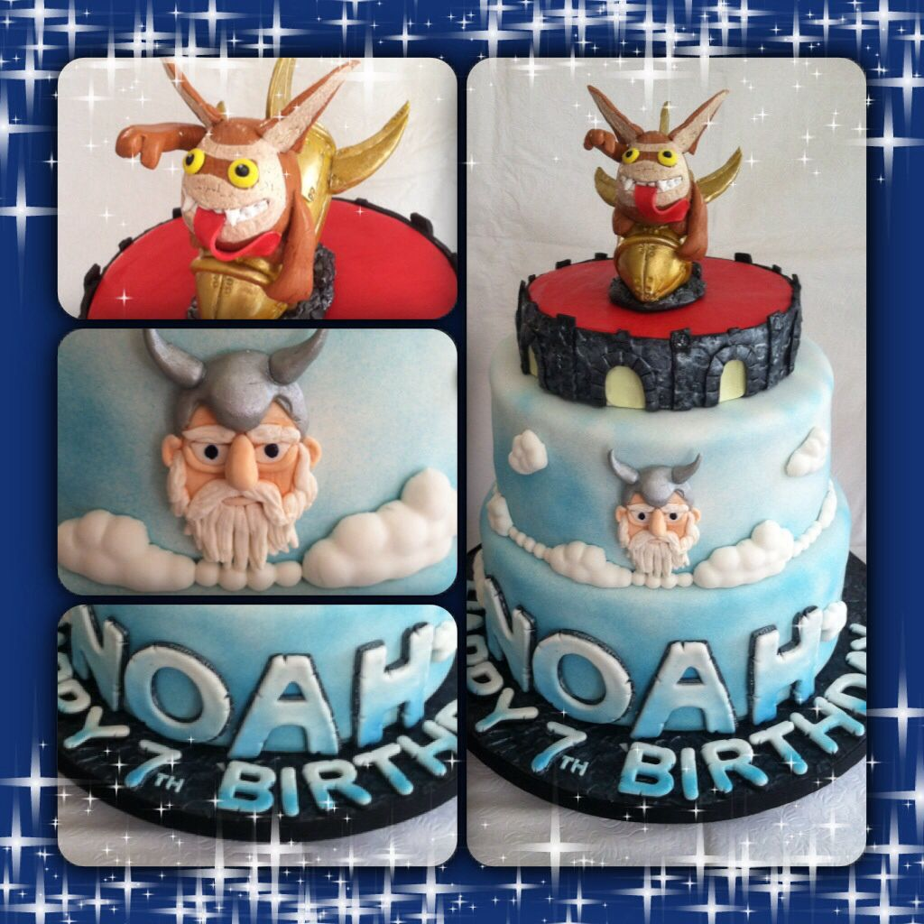 Skylander video game themed cake. 100% edible.