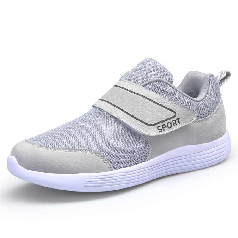 c7f3c0ddf836 Shoes for elderly with velcro fastening shoes men women wide fitness shoes  old people on line