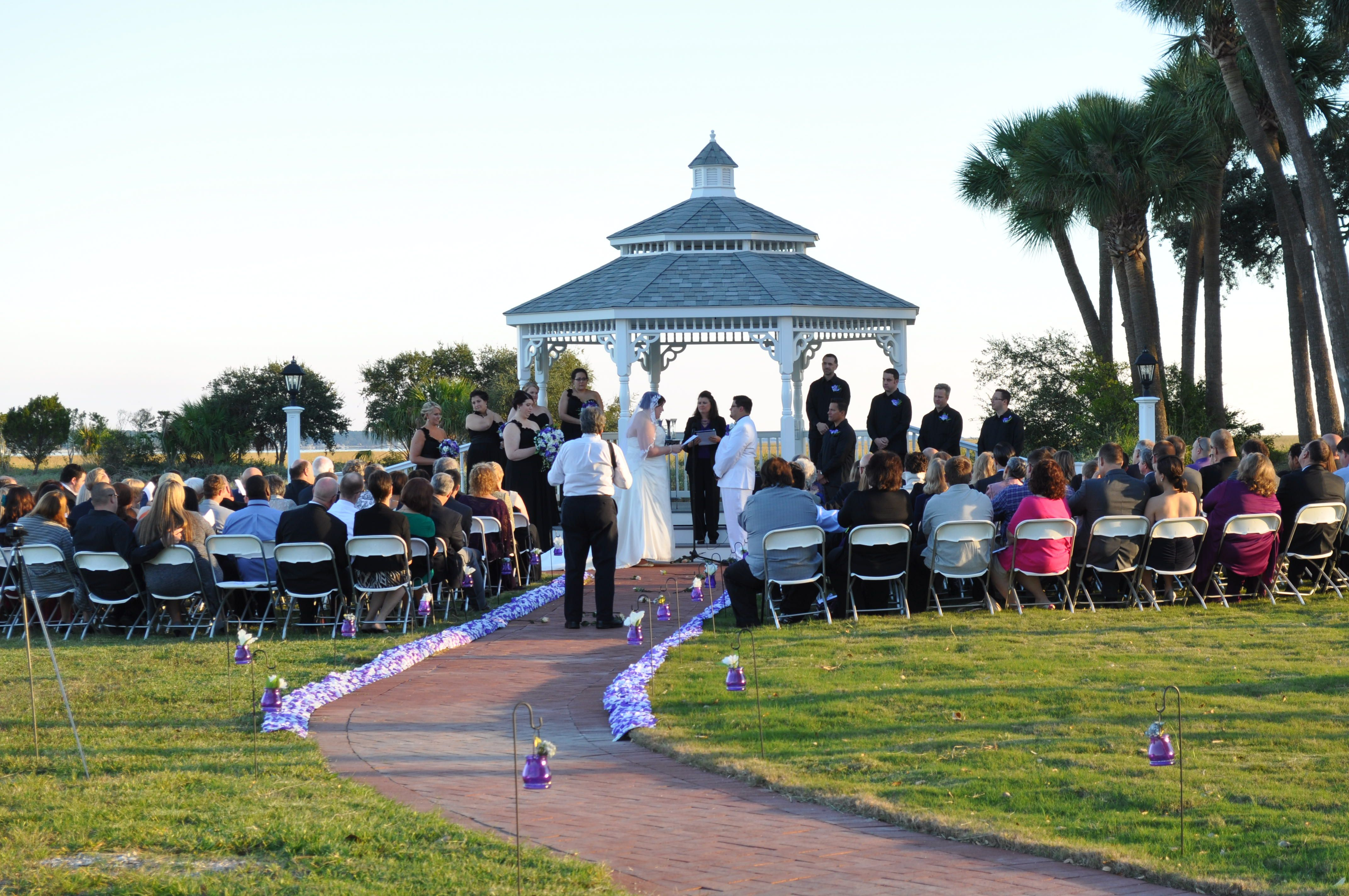 Beaufort Weddings - Gazebo Wedding ceremony at Traditions on