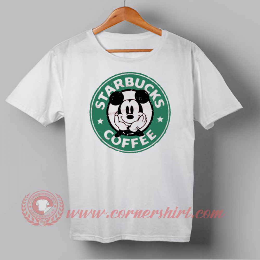 4012f6ca7 Mickey Mouse Starbucks Coffee Custom Design T shirts //Price: $14.50//  #cheapshirts