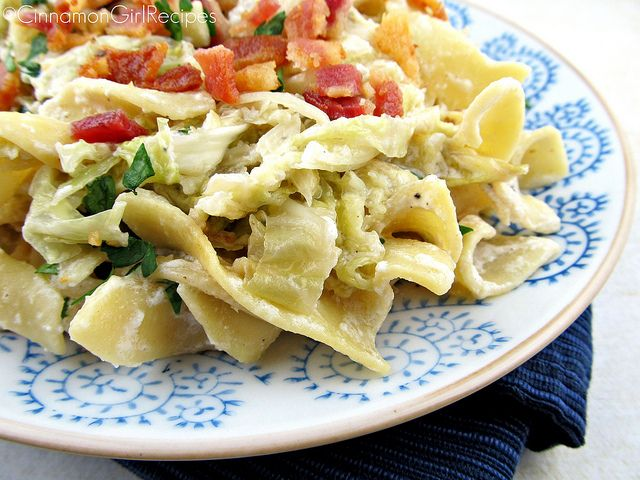 Bacon Sour Cream Cabbage Noodles Pasta Dishes Creamed Cabbage Recipes