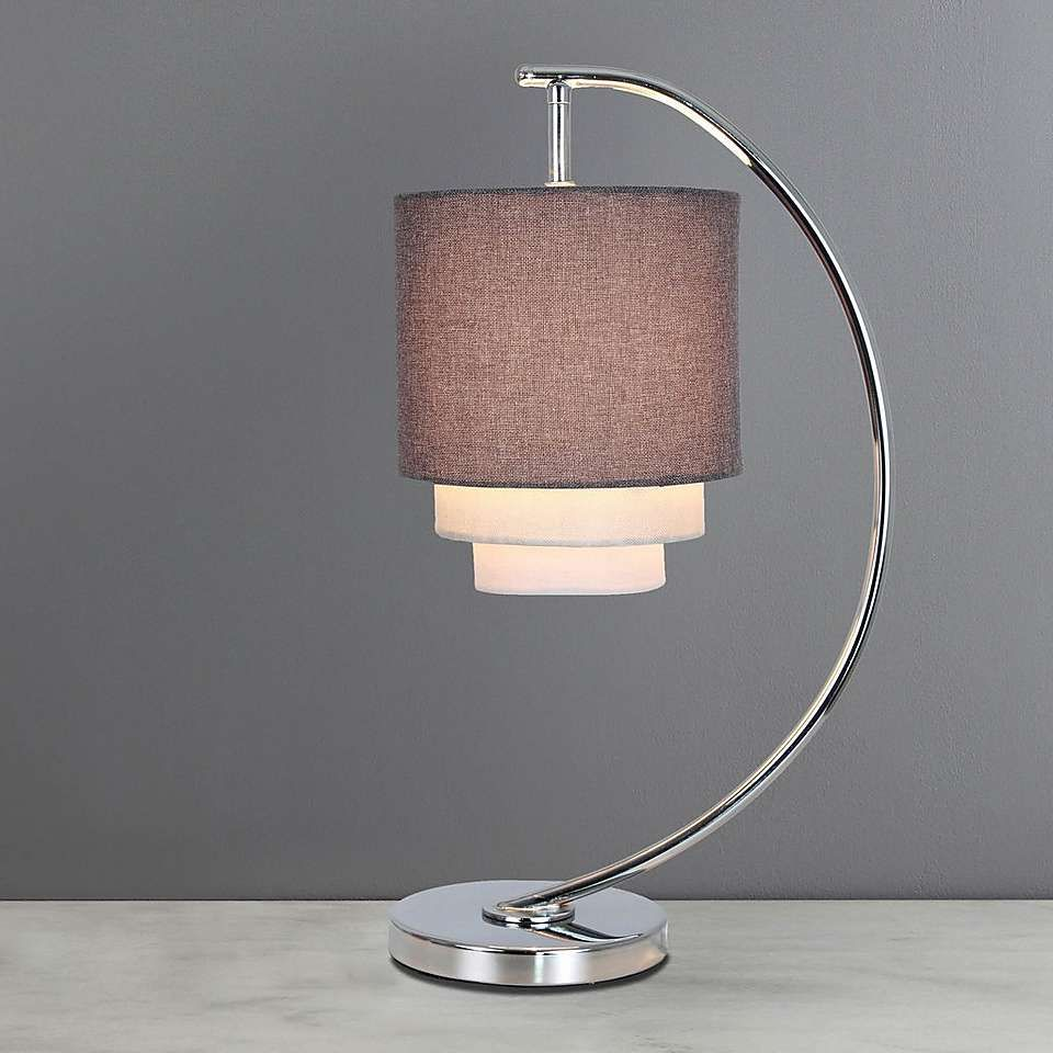 Eclipse 3 Tier Grey Table Lamp Table Lamp Lamp Grey Table Lamps
