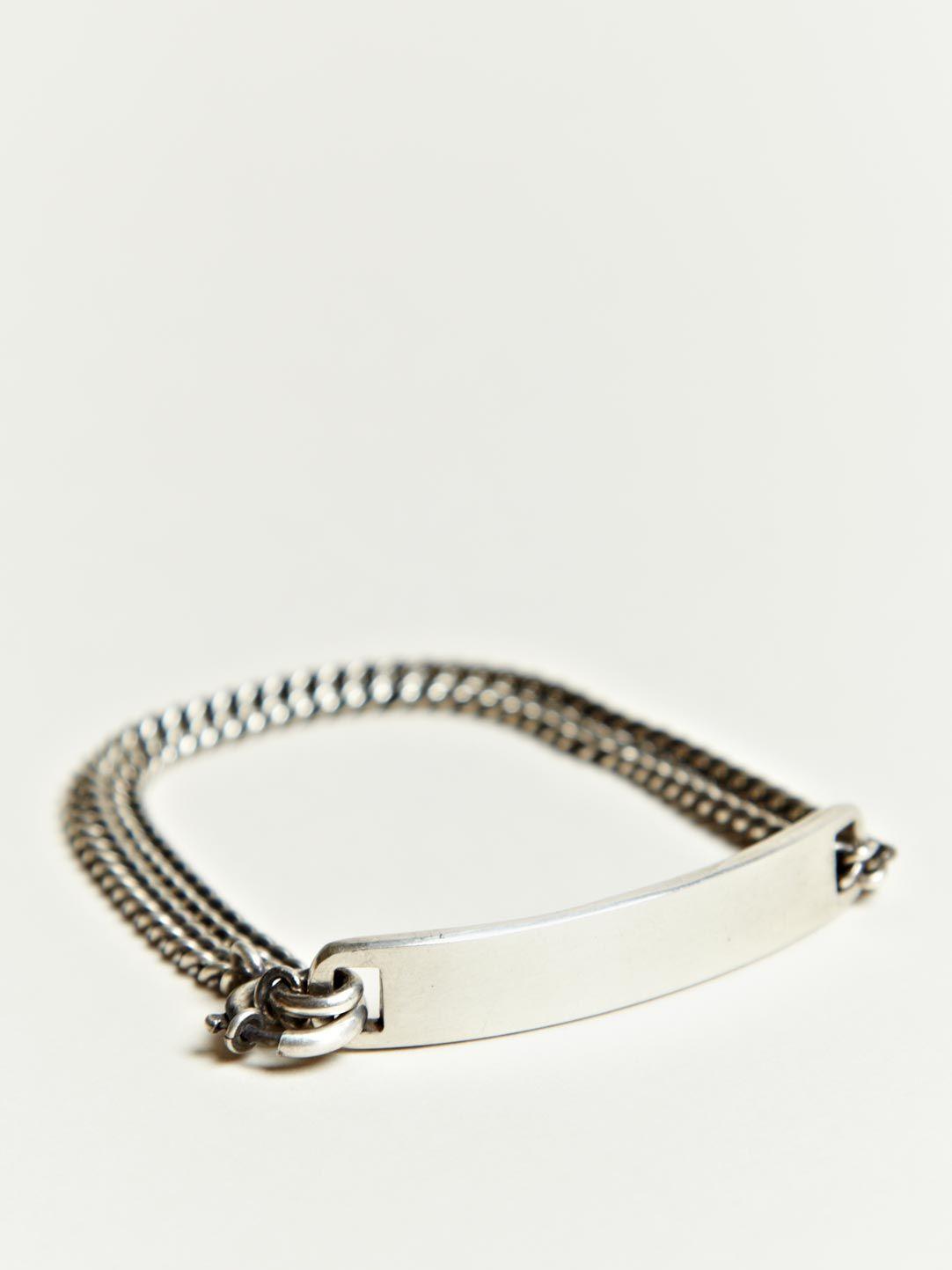 Ann Demeulemeester Men S Silver Plate Bracelet Jewelry Bracelets On Yes Or No I Kind Of Like It