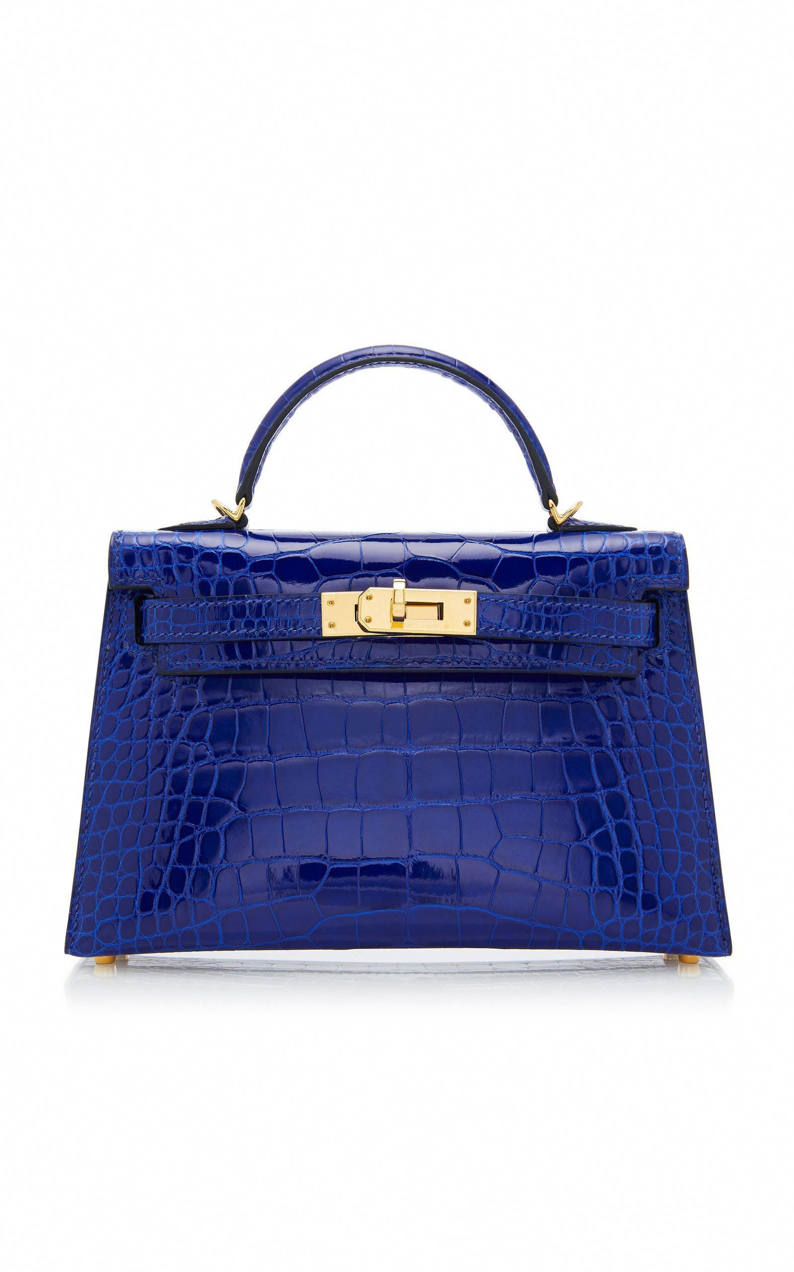 b5545a1ab81 HERMÈS VINTAGE | Hermes 20cm Blue Electric Alligator Mini Kelly II -  Electric Blue | CAD
