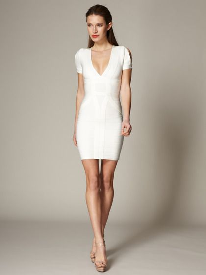 93fb07b9f6b7 Knit Wynn Slit Sleeve Dress by Herve Leger