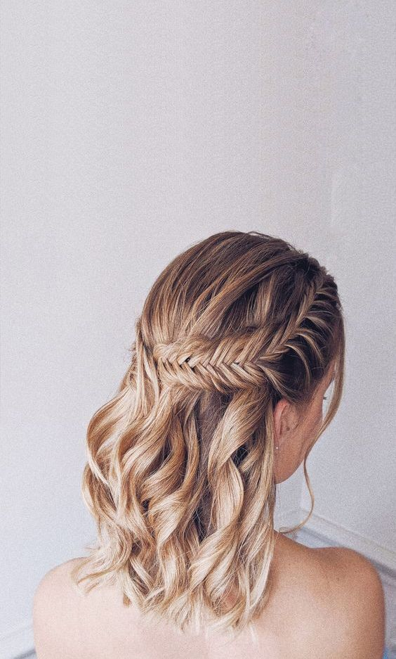 17+ Half up half down hairstyles short hair weddings inspirations