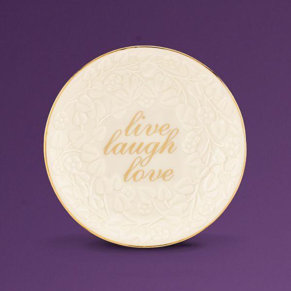 EternalR Entertaining Live Laugh Love Candy Dish By Lenox