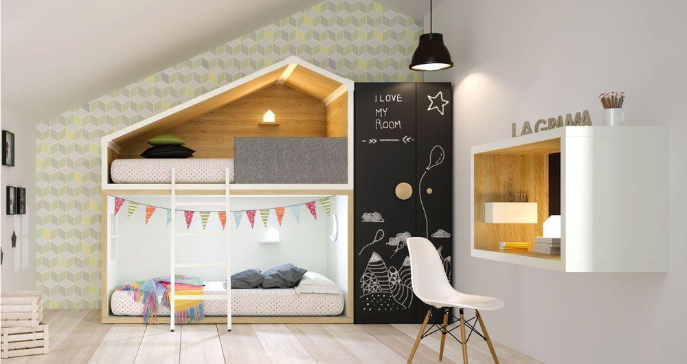Kinderzimmer Set Fresh 6 / Premium Etagenbett