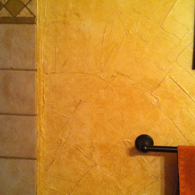 Joint compound wall texture projects i 39 ve done for Bathroom joint compound