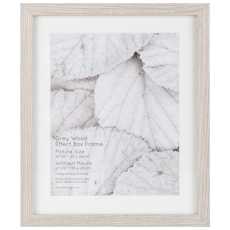 Grey Wood Effect Box Frame Grey Wood Box Frames Frame