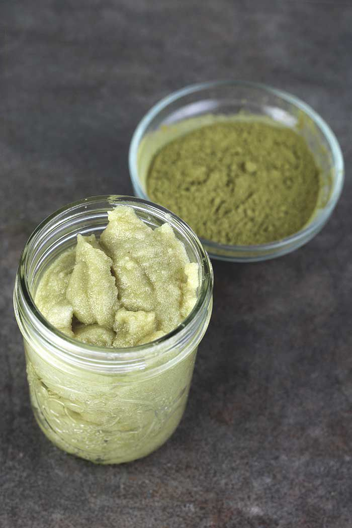 Peppermint Matcha Green Tea Whipped Sugar Scrub Recipe #sugarscrubrecipe