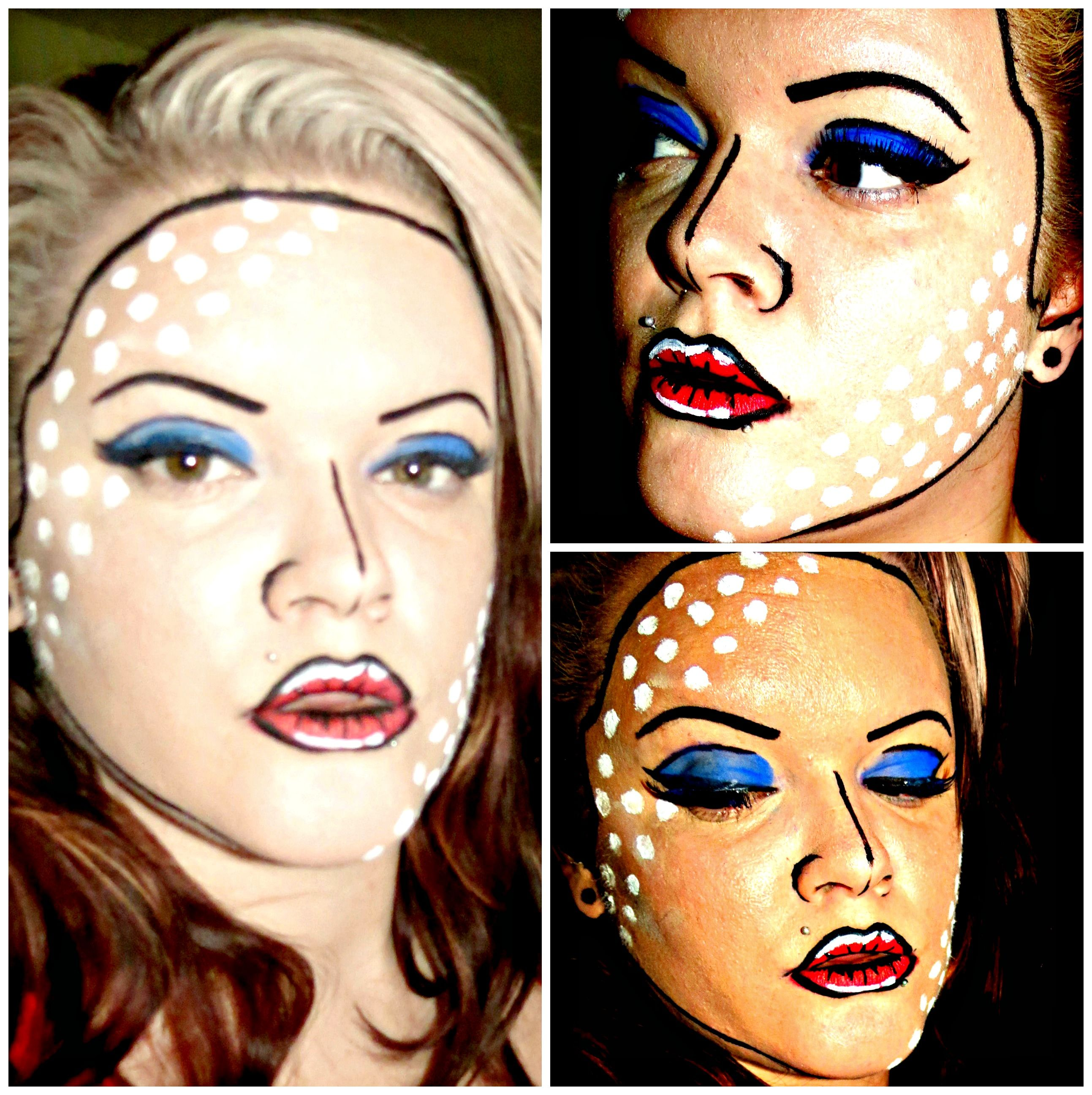 4th of July makeup - Pop Art/Cartoon inspired   Amber Janelle ...
