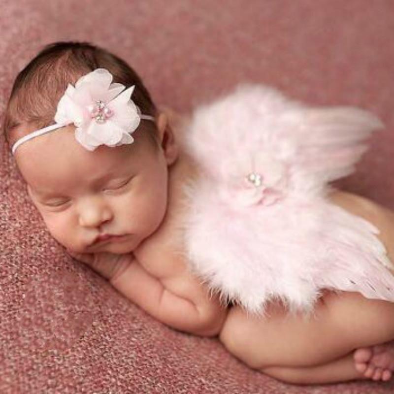 Nouveau-né Bébé Fille Dentelle Fleur Ange Costume Photographie Photo Prop Costume