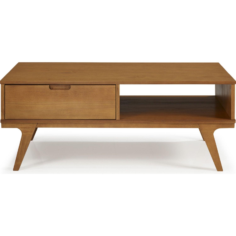 Walker Edison Af44matctca 1 Drawer Bridge Leg Solid Wood Coffee Table Caramel In 2021 Coffee Table Solid Wood Coffee Table Coffee Table Wood [ 1500 x 1500 Pixel ]