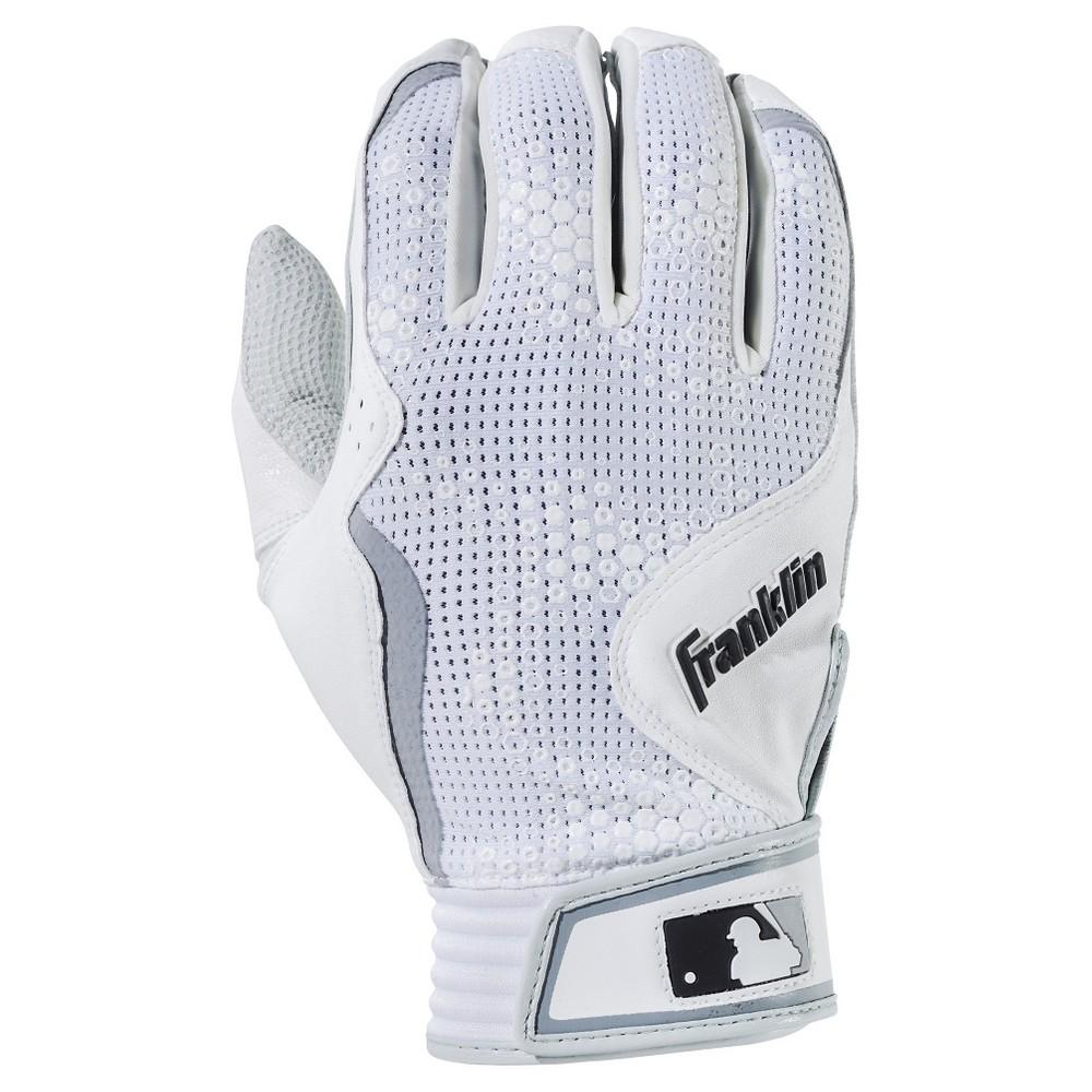 Black leather batting gloves - Franklin Sports Freeflex Series Batting Gloves White White Adult