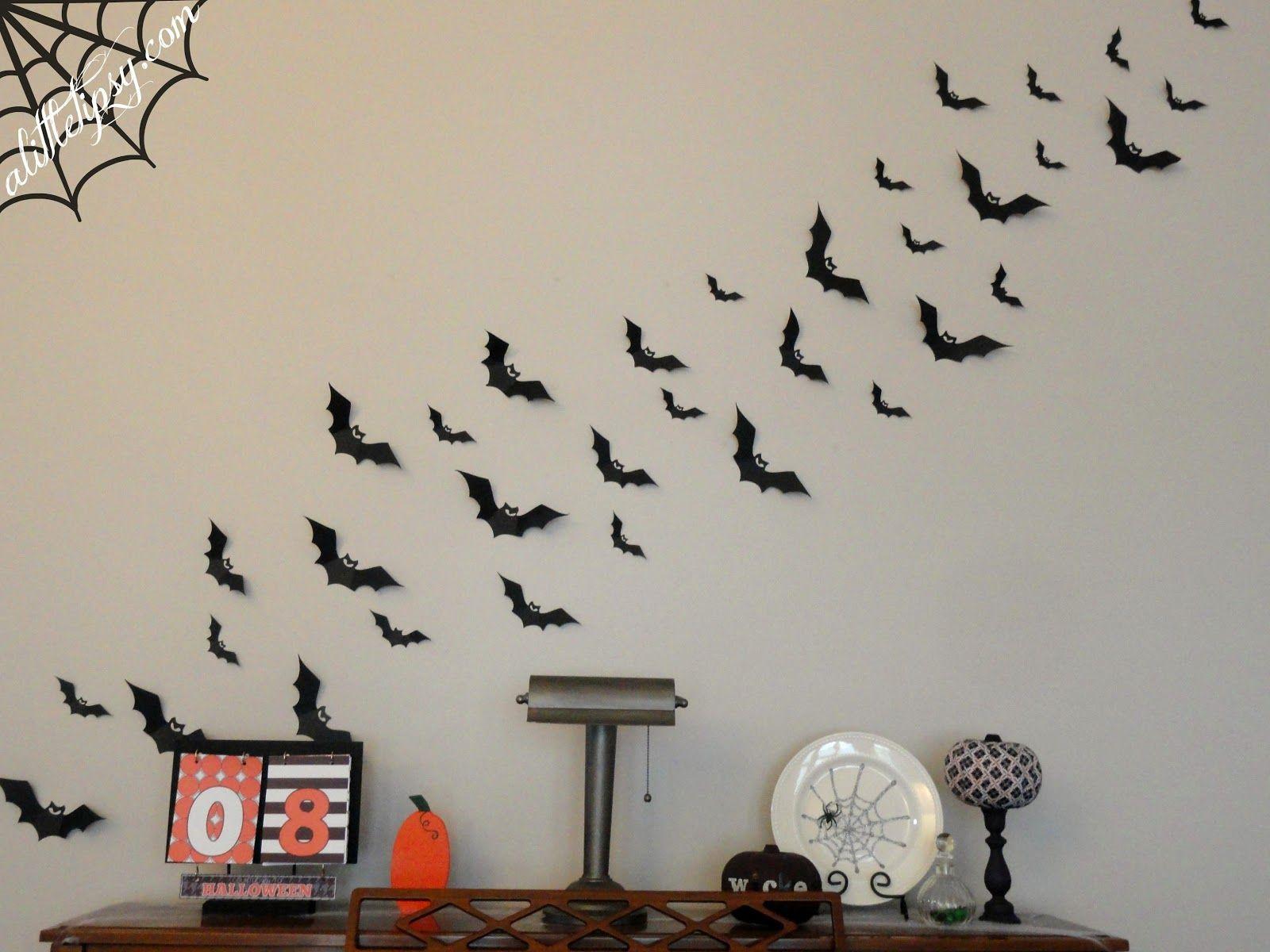 How To Make Bats Paper Bat Wall