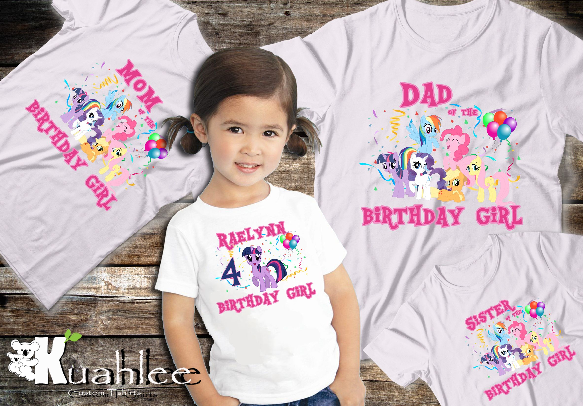 My Little Pony Birthday Shirt Twilight Sparkle Rainbow Dash Pinkie Pie Ideas 1st First
