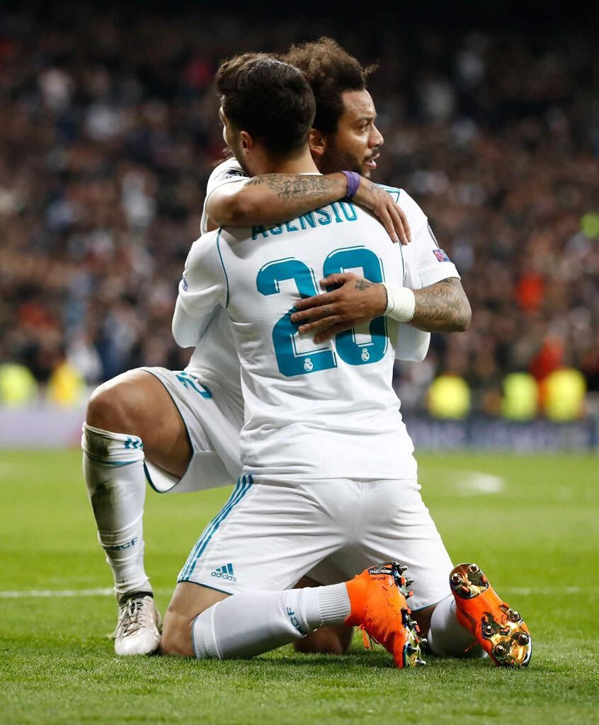 MARCELO Celebrated His Goal With ASENSIO RM Vs PSG 1 Leg