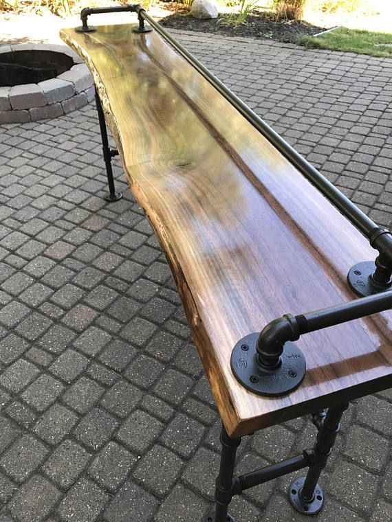 Live Edge Walnut Sofa Bar Table Tables And Legs