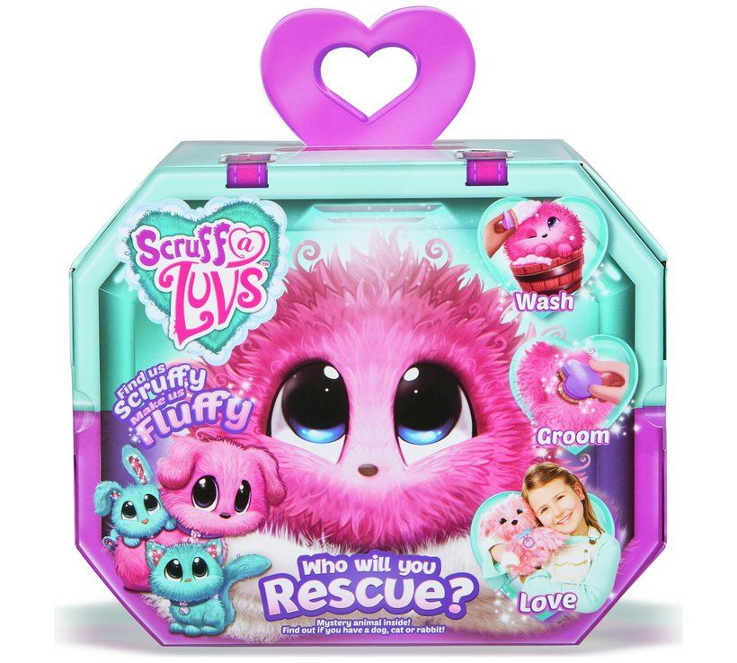 Buy Scruff A Luvs Pink Mystery Rescue Pet Soft Toy Playsets And