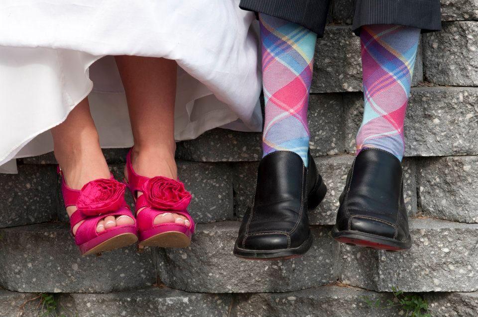 our wedding feet