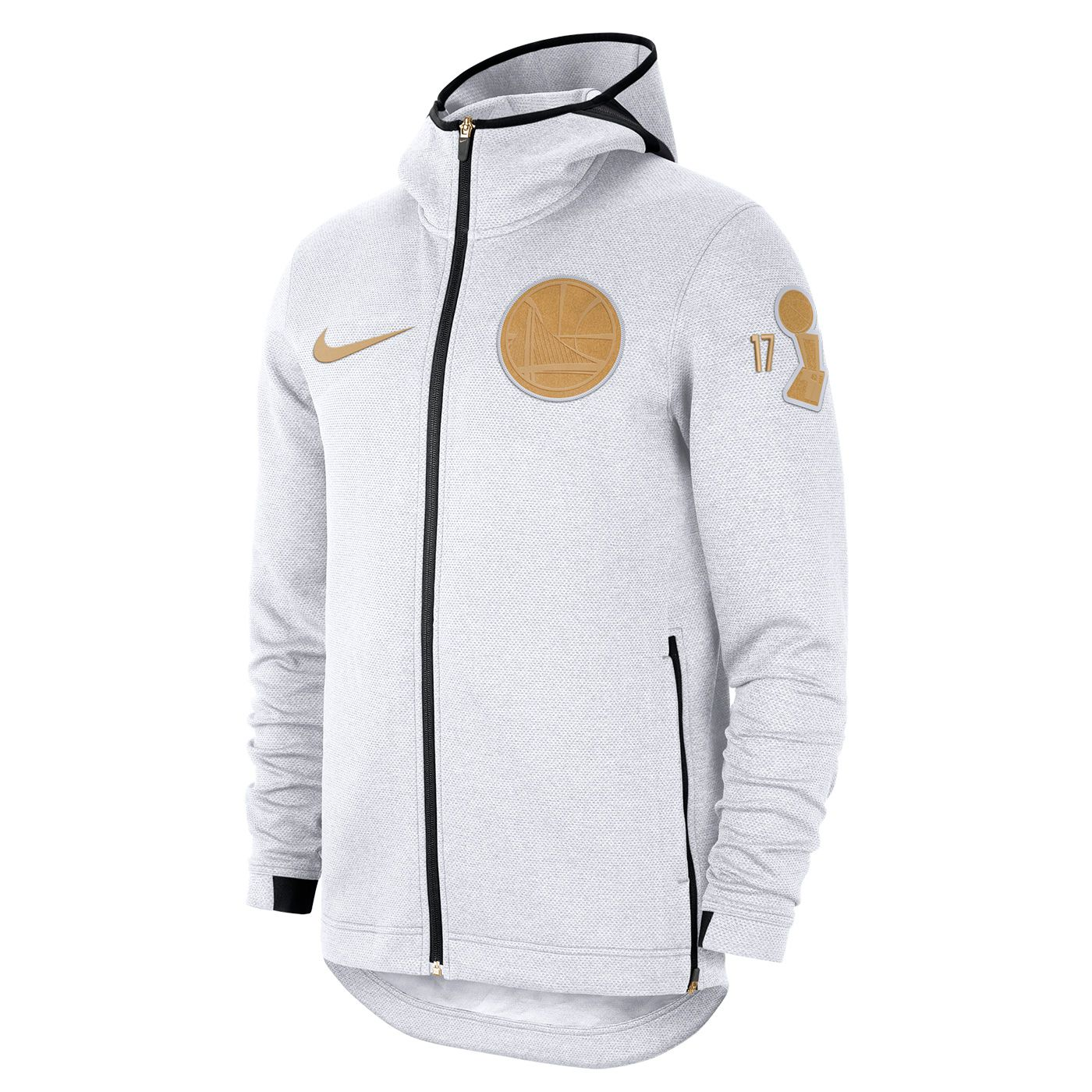 bad457e624604 Golden State Warriors Nike Men s Therma Flex Back to Back Champions Trophy  Ring Banner Showtime Full Zip Hoodie - White - Golden State Warriors -  Official ...