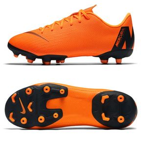 Nike Youth Mercurial Vapor 12 Academy MG Soccer Shoes (Orange/Black): https