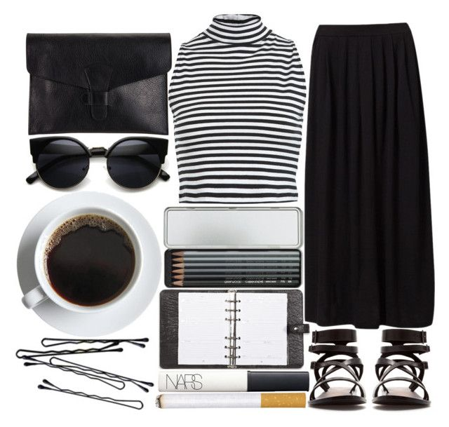 """""""#143"""" by zarcarla ❤ liked on Polyvore featuring Miss Selfridge, Passport, Zara, Lotuff & Clegg, Caran D'Ache, BOBBY, Mulberry and NARS Cosmetics"""
