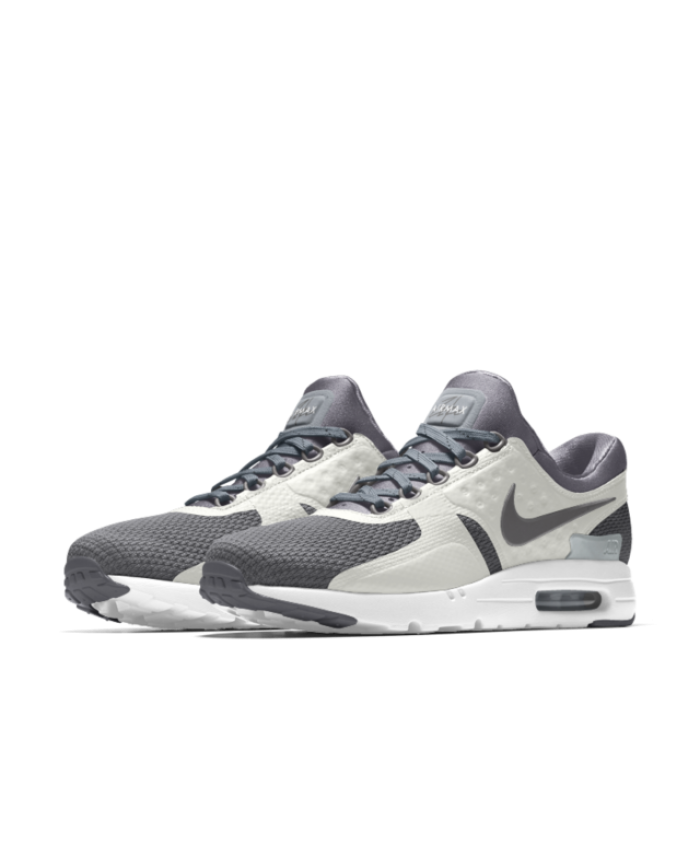 8ce17097d8a9 Nike Air Max Zero iD Cool Grey White Men s Shoes   Trainers Sale ...