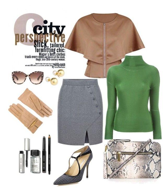 """Cape chic."" by doramoleiro ❤ liked on Polyvore featuring Moschino, Manolo Blahnik, Topshop, ISSEY MIYAKE CAULIFLOWER, Yoko London, Dolce&Gabbana, Bobbi Brown Cosmetics, women's clothing, women and female"