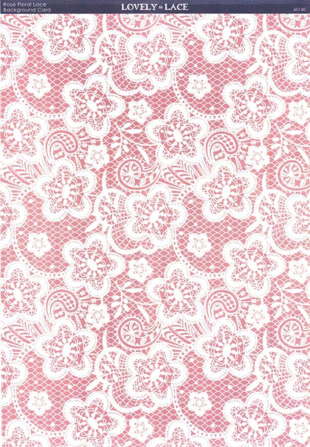 Kanban Crafts - Lovely in Lace - printed background card - Rose ...