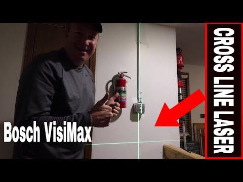 Bosch Gll 40 20 Cross Line Laser Level Green Self Leveling Laser W Visimax Youtube Laser Levels Laser Bosch