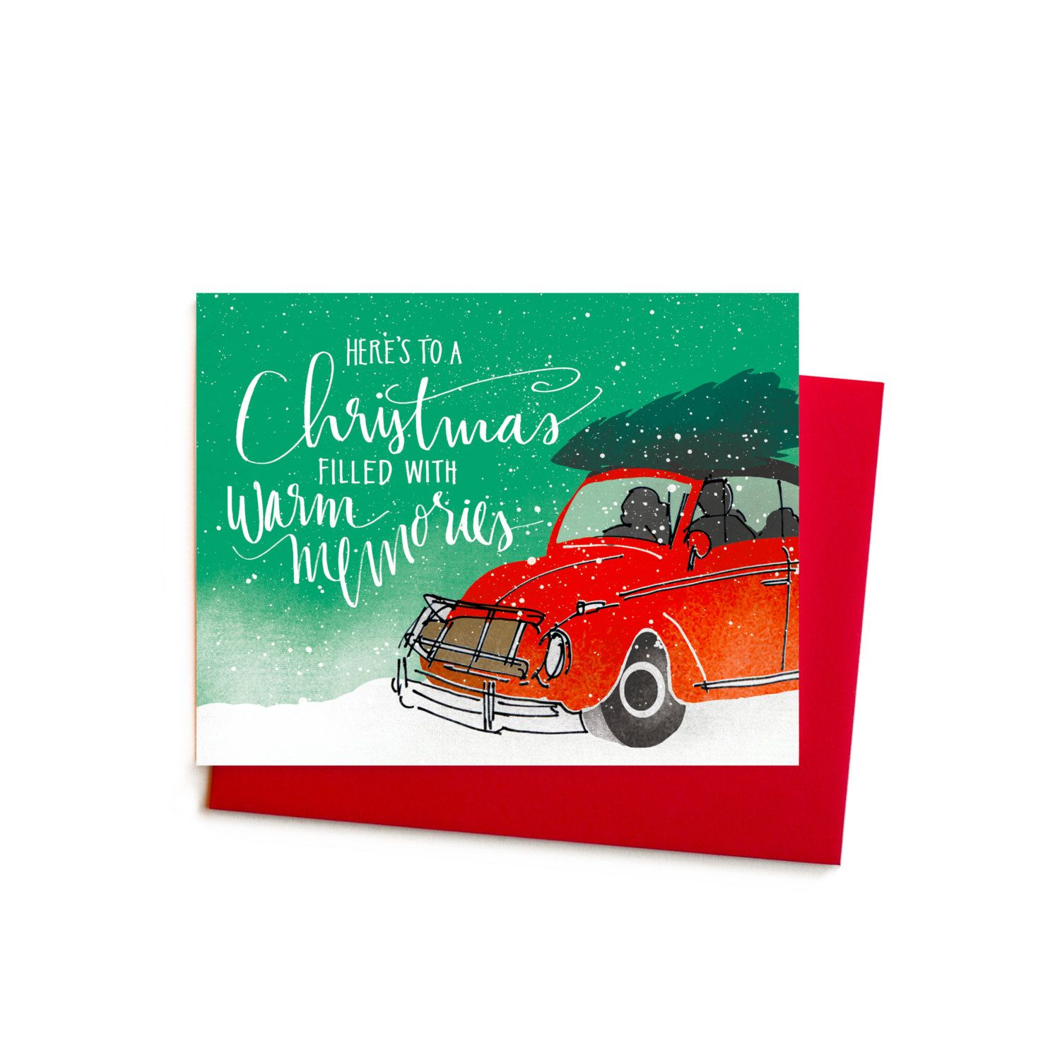 New to anopensketchbook on etsy volkswagen christmas cards vw bug new to anopensketchbook on etsy volkswagen christmas cards vw bug memories christmas card box set kristyandbryce Choice Image
