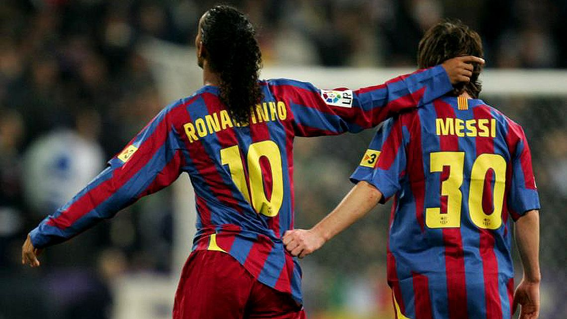 Ronaldinho Y Messi Background 1 Lionel Messi Barcelona Team Messi