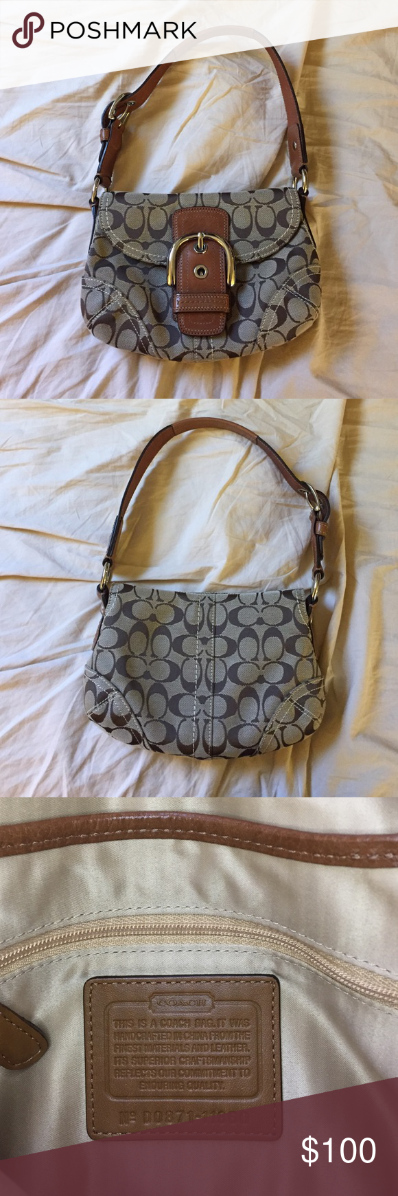 Smallmini Coach Handbag Hey Loves Here Is A Small Brown Almost