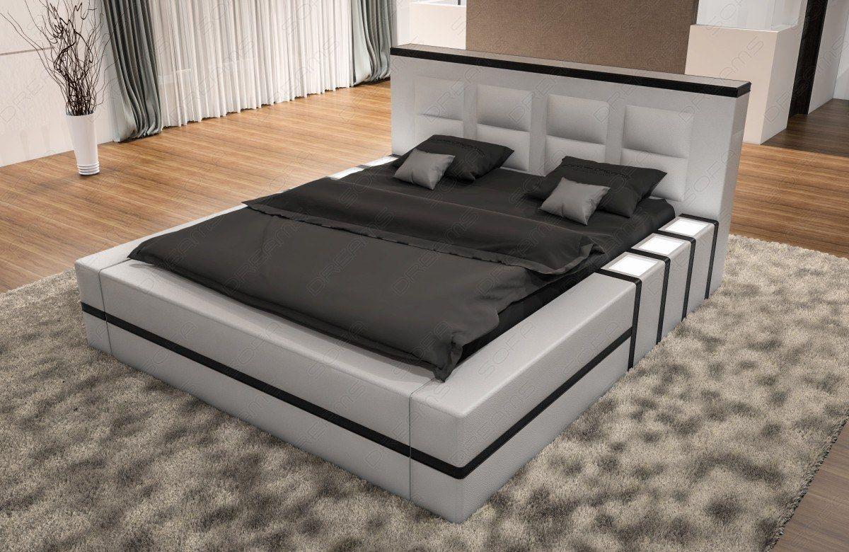 Wasserbett Asti Weiss Schwarz Bett Design Modern Bett Mobel Designer Bett