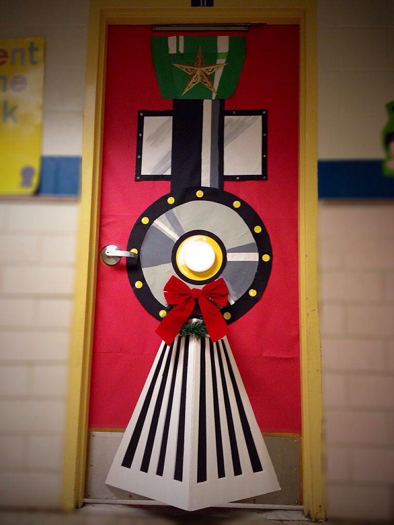 Christmas Door Decoration Polarexpress Christmastrain