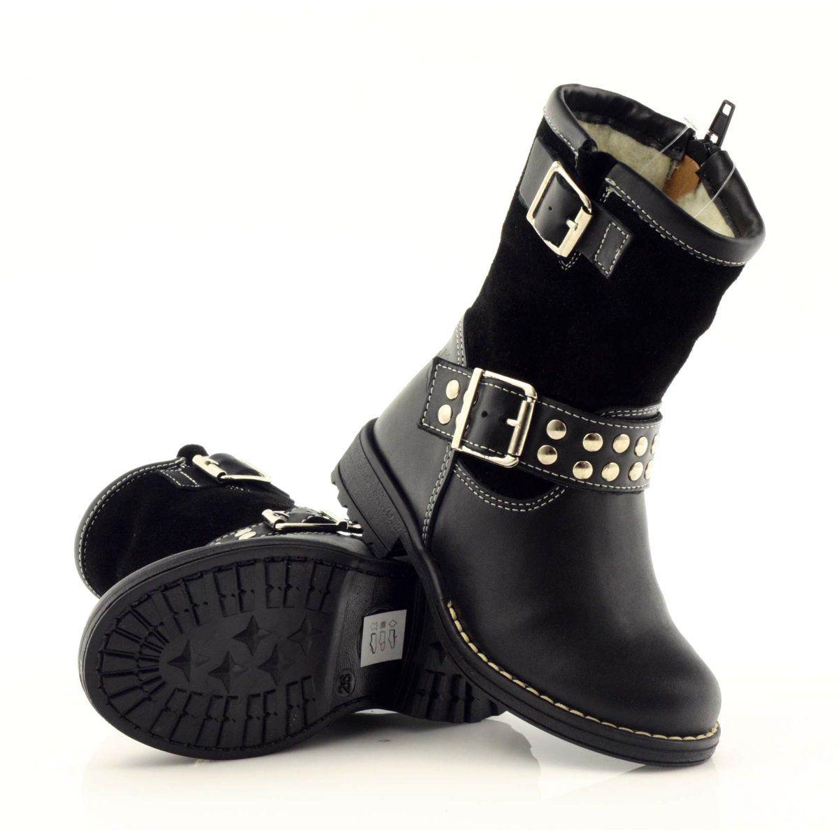 Ren But Girls Boots Ren Ren 3205 Black Girls Boots Boots Childrens Boots