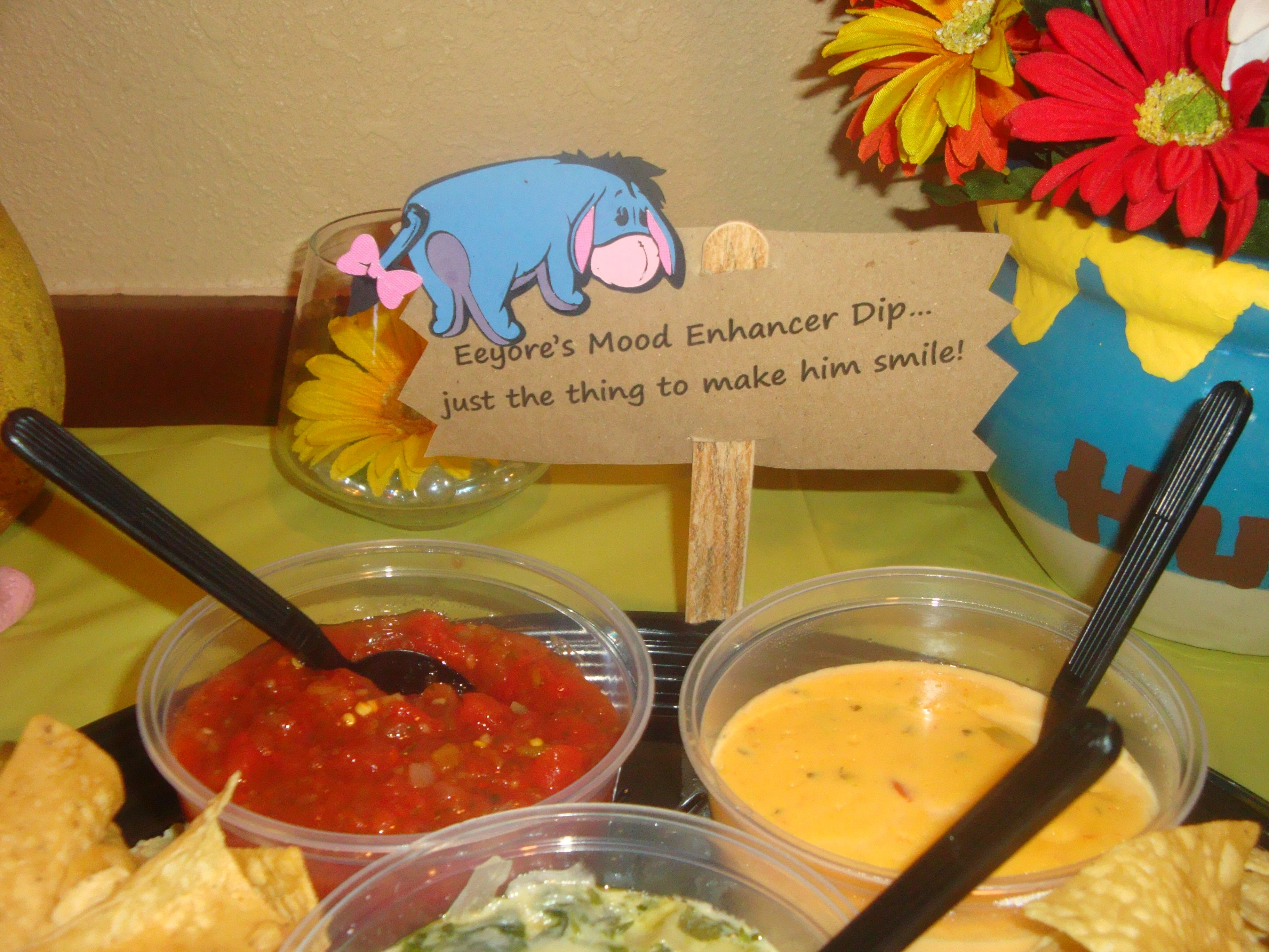 Food Label For The Dips Chips Baby Bear Baby Shower Disney Baby