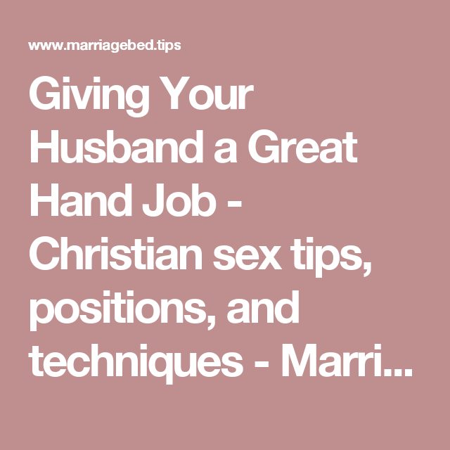 Giving a hand job tips
