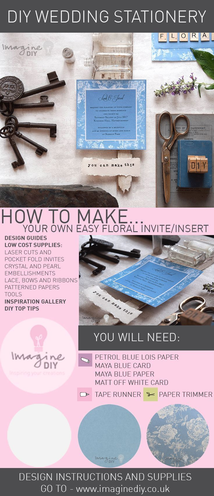 How to make your own diy wedding stationery pinterest summer